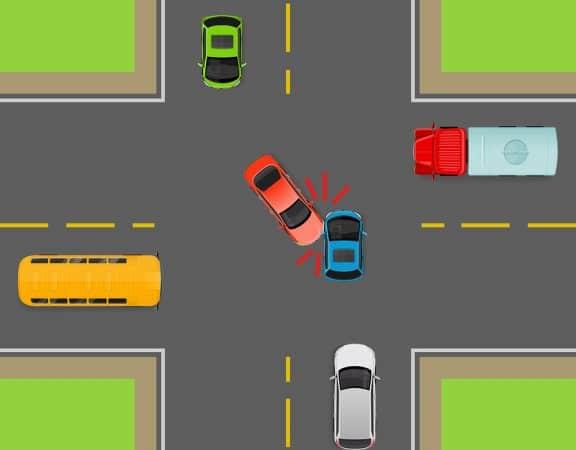 Verkehrsunfall Vorfahrt