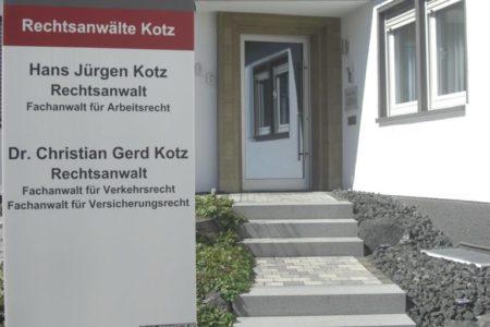 Zugang zur Kanzlei Kotz