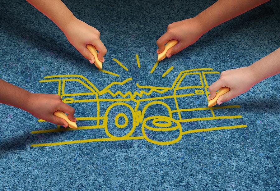 Verkehrsunfall: Anhaltspunkte für einen manipulierten Unfall