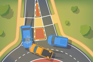 Auffahrunfall beim Verlassen eines Kreisverkehrs – Haftung