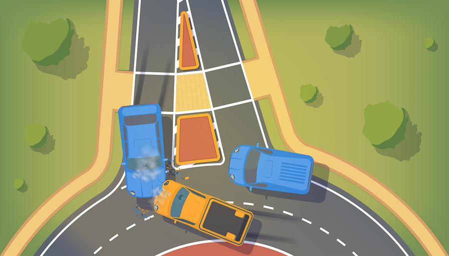Auffahrunfall beim Verlassen eines Kreisverkehrs - Haftung
