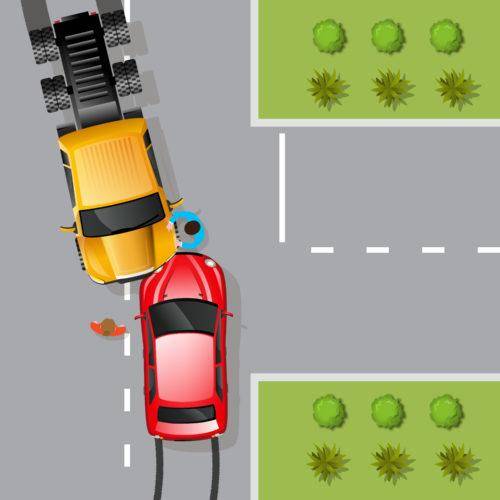 Verkehrsunfall - Haftung bei Auffahrunfall beim Abbiegen