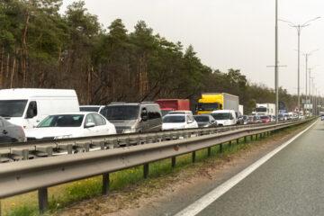 Verkehrsunfall – Fahren mit Niedriggeschwindigkeit auf Autobahn